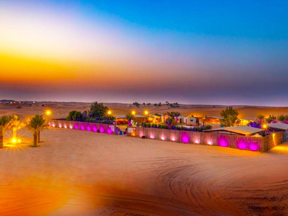 Dubai Safari Sunset